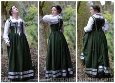 Ascension Day Dress and Apron Renaissance Costume, Renaissance Dresses, Renaissance Fashion, Elizabethan Fashion, Italian Renaissance, Modest Dresses, Day Dresses, Pretty Dresses, Historical Costume