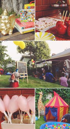 Dumbo Themed First Birthday Party