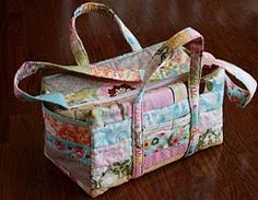 Sew a Quilted Craft Carry Bag or Baby On the Go Diaper Bag