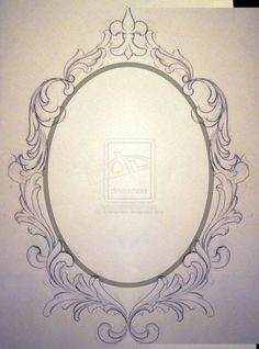 drawing oval frame - Google Search