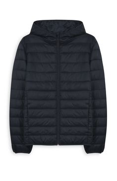 Primark - Navy Hooded Puffer Jacket Puffer Jackets, Winter Jackets, Black Puffer, Primark, Hoods, Navy, Fashion, Bordeaux, Coats
