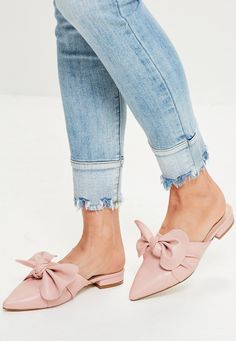 Missguided - Nude Knot Front Pointed Mules