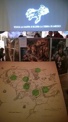 """Mappa Interattiva  """"La magia dell'anello: Da Tolkien a Jackson"""" WOW Spazio Fumetto - Museo del Fumetto di Milano"""