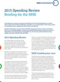 Spending Review 2015 briefing cover