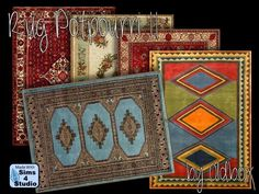 Potpourri II rugs by Oldbox at All 4 Sims via Sims 4 Updates