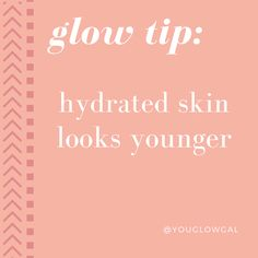 HYDRATED SKIN LOOKS YOUNGER | dehydrated skin texture will look rough, wrinkles magically appear or look worse, pores clog & your glow disappears. plump it up with hyaluronic acid!