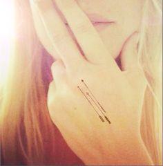 3pcs Tiny arrows set InknArt Temporary Tattoo wrist by InknArt, $3.99