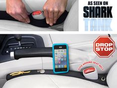 Clever Gadgets - Drop Stop Car Seat Gap Filler, Never look for anything under your seat again! Clever Gadgets, Gadgets And Gizmos, Cool Technology, Technology Gadgets, Alexa Device, Drop, Works With Alexa, Cool Inventions, Gadget Gifts