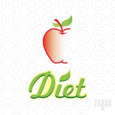 http://stocklogos.com/logo/diet Logo representing an apple designed in a modern hip way