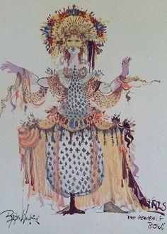 Goddess of Iris by Bjørn Wiinblad - Original Vintage Mini Poster Scandinavian Art, Victoria And Albert Museum, Museum Of Modern Art, Ceramic Artists, Poster On, National Museum, Illustration Art, Illustrations, Vintage Posters