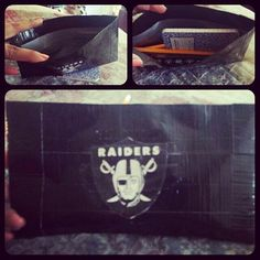 Oakland Raiders duct tape pencil pouch