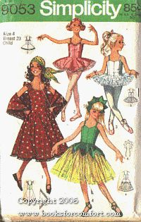 Simplicity 9053 Child's Ballet Costume, Hat and Gypsy Costume Vintage Sewing Pattern Check Offers for Size Simplicity. Sewing Crafts, Sewing Projects, Flat Felled Seam, Gypsy Costume, Costume Patterns, Ballet Costumes, Amazon Art, Sewing Stores, Vintage Sewing Patterns