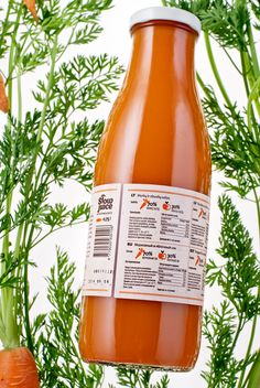 Slow juice – local juice as real as it gets. All natural, organic Lithuanian carrots only, no additives, sweeteners etc