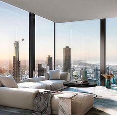 Een woonkamer met een uitzicht, zo kan jouw penthouse eruit zien