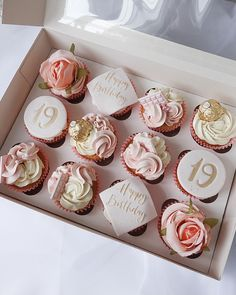 Elegant Cupcakes, Pink Cupcakes, Cute Cupcakes, Cupcake Frosting Techniques, Cupcake Frosting Recipes, Birthday Cake For Mum, 2 Birthday Cake, Beginner Baking Recipes, Pink Barbie