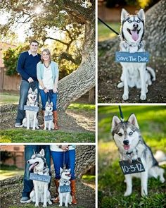 The perfect way to add the girls into the save the date! They are a special part of us too! :)