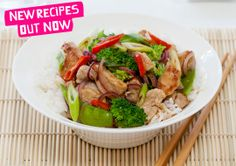 Pork Stir-fry with Rice recipe - Easy Countdown Recipes Stir Fry Rice, Pork Stir Fry, Easy Rice Recipes, Healthy Recipes, Eating Well, Delicious Desserts, Fries, Easy Meals, Tasty
