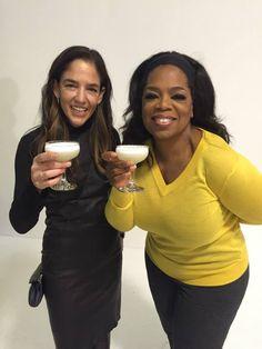 Casa Dragones' CEO and Maestra Tequilera, Bertha González Nieves and Oprah Winfrey.