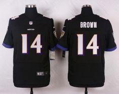 nike baltimore ravens #14 brown black elite jerseys
