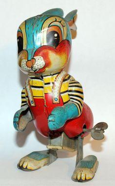 Tin Bunny Rabbit by SY made in China
