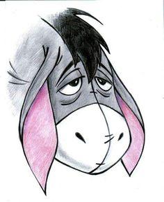 Eeyore, winnie the pooh drawing и disney drawings. Disney Character Drawings, Disney Drawings Sketches, Cute Disney Drawings, Cool Art Drawings, Cartoon Drawings, Animal Drawings, Easy Drawings, Drawing Sketches, Drawings About Love
