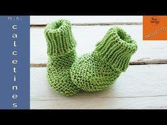 Calcetines para bebé tejidos con agujas rectas (no circulares)-Soy Woolly - YouTube