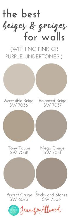 the best Beige and Greige Wall Paints for walls | Magic Brush | Jennifer Allwood's Top 50 Wall Paint Colors | Paint Color Ideas | Best Neutral Hues | Neutral Interior Paint Colors | best paint colors for living rooms