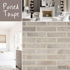 sherwin williams poised taupe, poised taupe used in interior design, taupe interior, 2017 color of the year, 2017 color trends