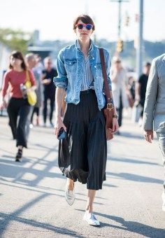 How to wear a denim jacket, neutral staples, street style