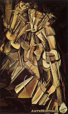 Desnudo bajando la escalera. Duchamp. 1912.