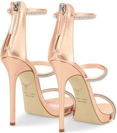 Giuseppe Zanotti 'Harmony Sparkle' Rose Mirrored Gold Sandals