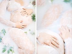 Milk Bath Maternity Ideas