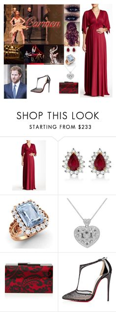 """""""*FLASHFORWARD - CROSSOVER* Attending the HRH Marquis of Kladsko, Theo & Noble Lady Veronica Cooper's Pre-Wedding Ballet Performance """"Carmen"""""""" by adelaide-victoria ❤ liked on Polyvore featuring Allurez, Diamondere, Rauwolf and Christian Louboutin"""