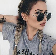 Image de girl, hair, and braid