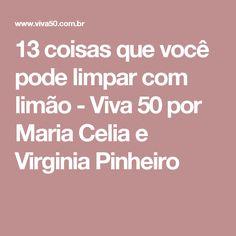 13 coisas que você pode limpar com limão - Viva 50 por Maria Celia e Virginia Pinheiro