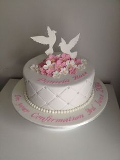 Dove Confirmation Cake on Cake Central