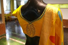 Embroidered yellow blouse from Studio 149 by Swathi
