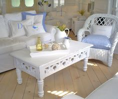 shabby chic coffee table   white  furniture by backporchco on Etsy