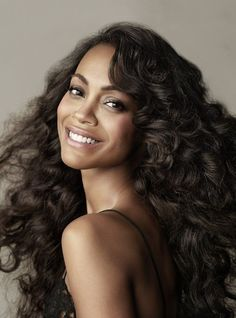 See the latest Zoe Saldana photos in our Zoe Saldana naked gallery. Popular Celebrity Zoe Saldana looks incredible showing off her enviable figure. Curly Hair Styles, Natural Hair Styles, Long Curly, Short Hair, Naturally Curly, Hair Inspiration, My Hair, Wedding Hairstyles, Hairstyles 2018