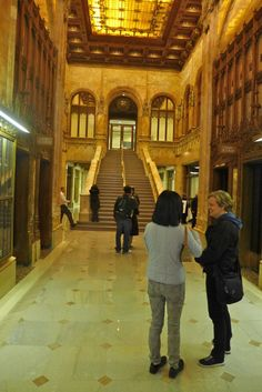 Woolworth Building lobby stairs