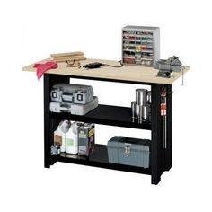 Garage-DIY-Workbench-Storage-Metal-Steel-Work-Bench-Organizer-Stable-Sturdy-Tool