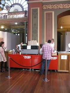 Melbourne Arts Fair 2010, #RoyalExhibitionBuilding, coffee station, catering by Bay Leaf Catering