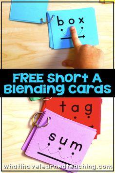 FREE Short A Blending Cards