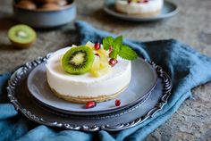 La cheesecake fit per chi si allena Kiwi, Cheesecake Fit, Pastel, Bude, Muesli, Snack, Panna Cotta, Health Fitness, Cooking