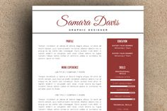 The Samara Resume Pack by LeResume on Creative Market