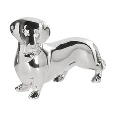 Silver small daschund ornament now available from www.hanaleyinteriors.co.uk £14.99. H: 90mm W: 150mm D: 50mm Daschund, Dachshund Dog, Dog Ornaments, Dog Lovers, Dogs, Silver, Accessories, Weiner Dogs, Doggies