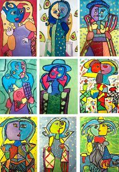 Picasso Portrait Of Dora Maar - Kids Art Kunst Picasso, Art Picasso, Pablo Picasso, Picasso Style, Programme D'art, Classe D'art, Dora Maar, Artist Project, Atelier D Art
