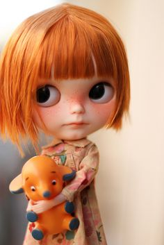 Pumpkin just arrived! <3 this Tole Tole custom blythe