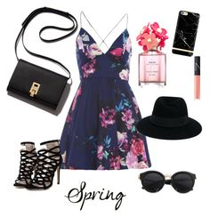 """""""Spring"""" by cissi22996 ❤ liked on Polyvore featuring AX Paris, Maison Michel, Marc Jacobs and NARS Cosmetics"""