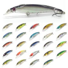 wLure Fishing Lure Minnow Crankbait Hard Bait Epoxy Coating Jerkbait Weight Transfer System Over 20 Colors 1/2oz 11cm M600 ** Detailed information can be found by clicking on the VISIT button